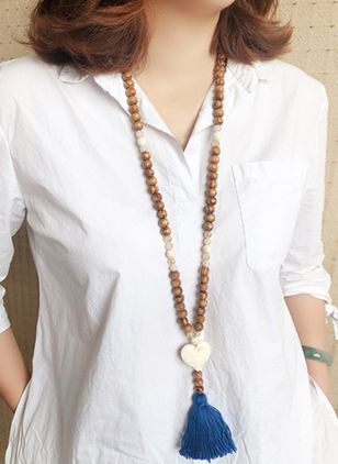 Casual Tassel Pendant Necklaces (4348193)