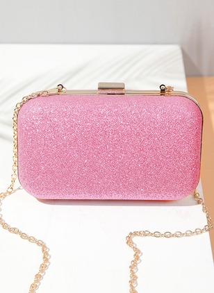 Shoulder Clutches Fashion Sparkling Glitter Chain Bags