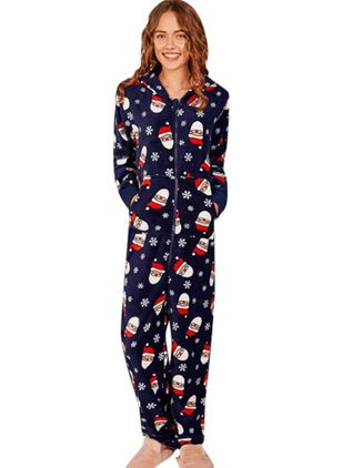 Hooded Floral Pajamas