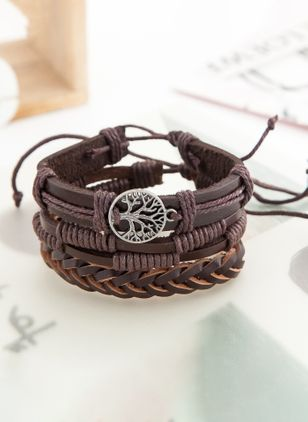 Casual Round No Stone Bangle Bracelets (6211656)