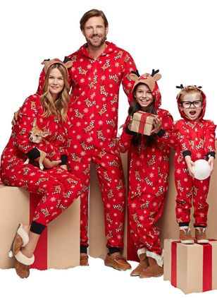 Family Look Animal Christmas Long Sleeve Family Outfits (146659369)