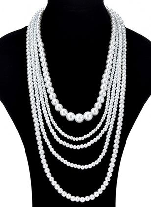 Elegant Ball Pearls Without Pendant Necklaces (1505166)
