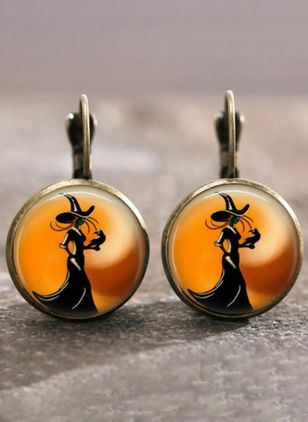 Casual Animal Round No Stone Dangle Earrings (4126963)