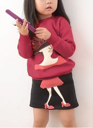 Girls' Character Daily Long Sleeve Clothing Sets