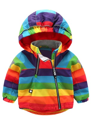 Boys' Color Block Hooded Coats