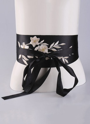 Elegant Leatherette Embroidery Floral Belts