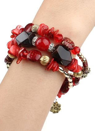 Casual Ball Gemstone Beaded Bracelets (111608258)