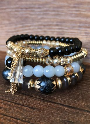 Casual Ball Gemstone Beaded Bracelets (4047729)