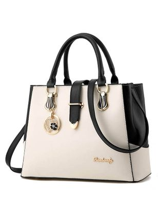 Shoulder Color Block Double Handle Bags (1502335)