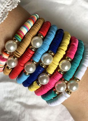 Casual Ball Round Pearls Beaded Bracelets (4126983)