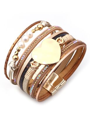 Elegant Geometric Ball Pearls Bangle Bracelets (4072082)