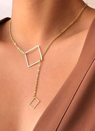 Casual Geometric No Stone Pendant Necklaces (6211549)