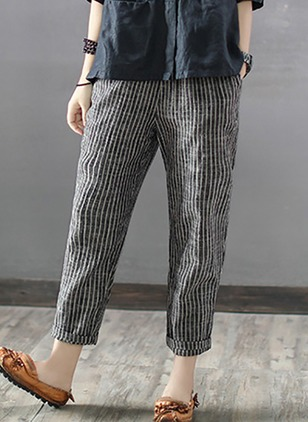 Loose Linen Pants Pants & Leggings (1214469)