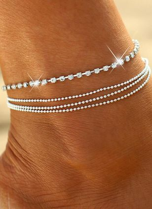 Casual No Stone Geometric Anklet (104918087)