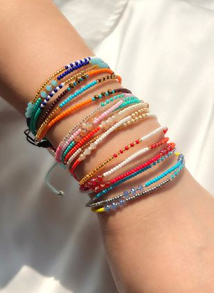 Casual No Stone Beaded Bracelets (2201194)