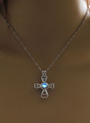 Halloween Cross Pearls Pendant Necklaces (107805745)