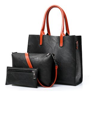 Bag Sets Fashion Zipper Double Handle Bags (147142464)