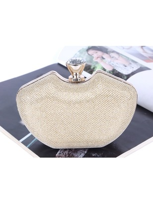 Clutches Fashion Sparkling Glitter Polyester Rhinestone Chain Bags