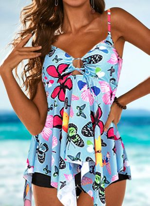 Bikinis & Maillots de bain Tankinis Florale Polyester (4047032)