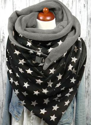 Casual Geometric Scarves (146643724)