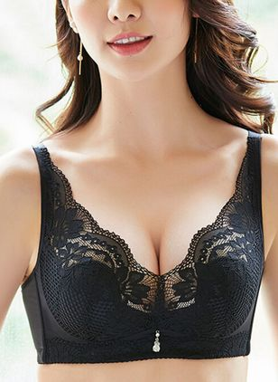 Plain Lace With Rim Bras