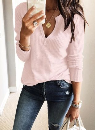 Others Solid Loose Regular None Sweaters
