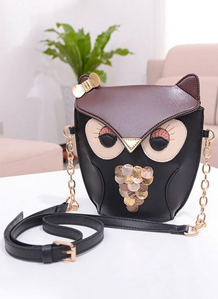 Shoulder PU Print Chain Bags