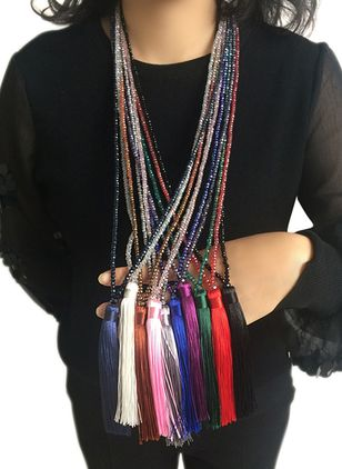 Casual Tassel Pendant Necklaces (1521279)