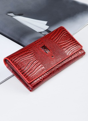 Wallets Fashion Real Leather Zipper Bags