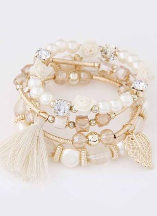 Vintage Tassel Ball Pearls Beaded Bracelets (146775678)