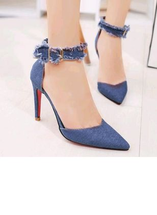 Denim Shoes With Buckle (5502392)