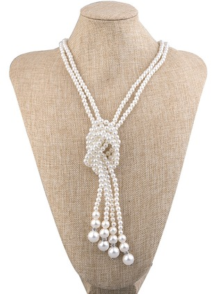 Ball Pearls Pendant Necklaces