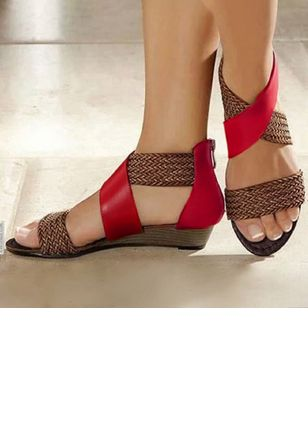 Women's Knit Wedge Heel Sandals