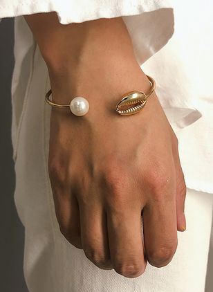 Casual Ball Pearls Cuff Bracelets (4134830)