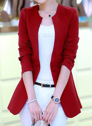 3/4 Sleeves Round Neck Coats Jackets