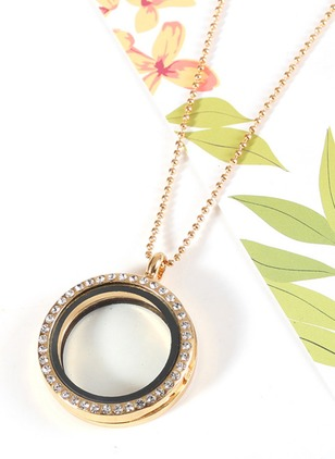 Round Crystal Pendant Necklaces