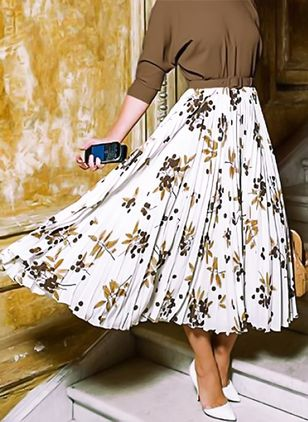 Floral Maxi Casual Pattern Skirts