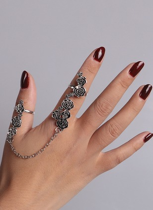 Floral No Stone Rings Single