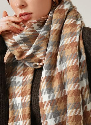 Casual Geometric Scarves (111853087)