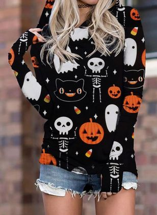 Figurer Halloween Hooded Sweatshirtar (111109489)