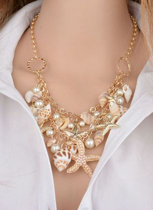 Vacation Pearls Pendant Necklaces (1542442)