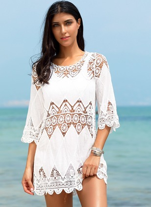 Cotton Halter Solid Cover-Ups Swimwear