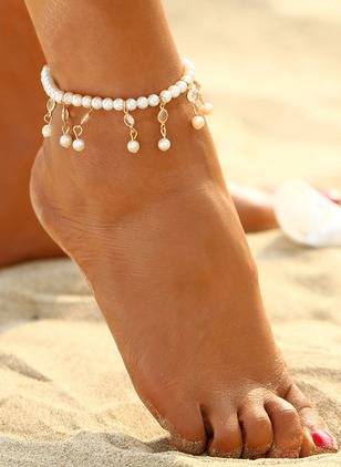 Pearls Tassel Ball Round Anklet