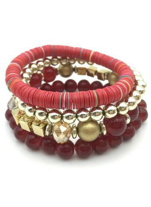 Casual Ball No Stone Beaded Bracelets (111608272)