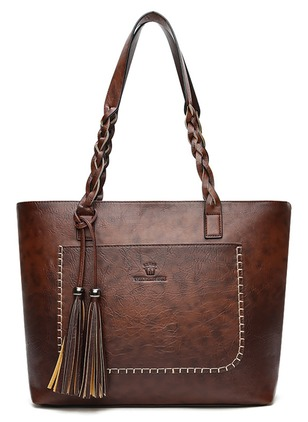 Tote Fashion Tassel Double Handle Bags