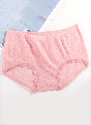 Cotton Plain Lace Panty