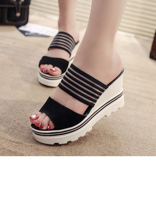 Slippers PU Wedge Heel Shoes (1162806)