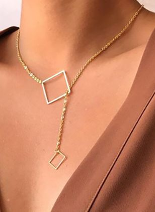 Sexy Geometric No Stone Pendant Necklaces (4135049)