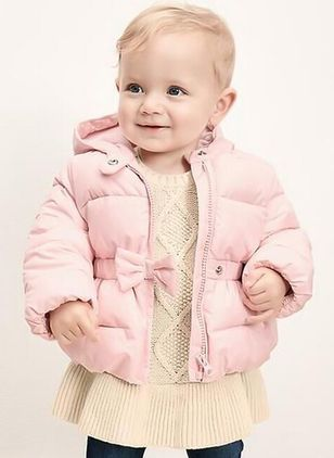 Girls' Sweet Bowknot Hooded Coats