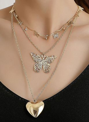 Elegant Animal No Stone Pendant Necklaces (4135026)